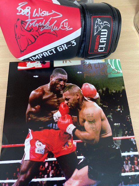 Frank Bruno against the ropes package featuring Mike Tyson