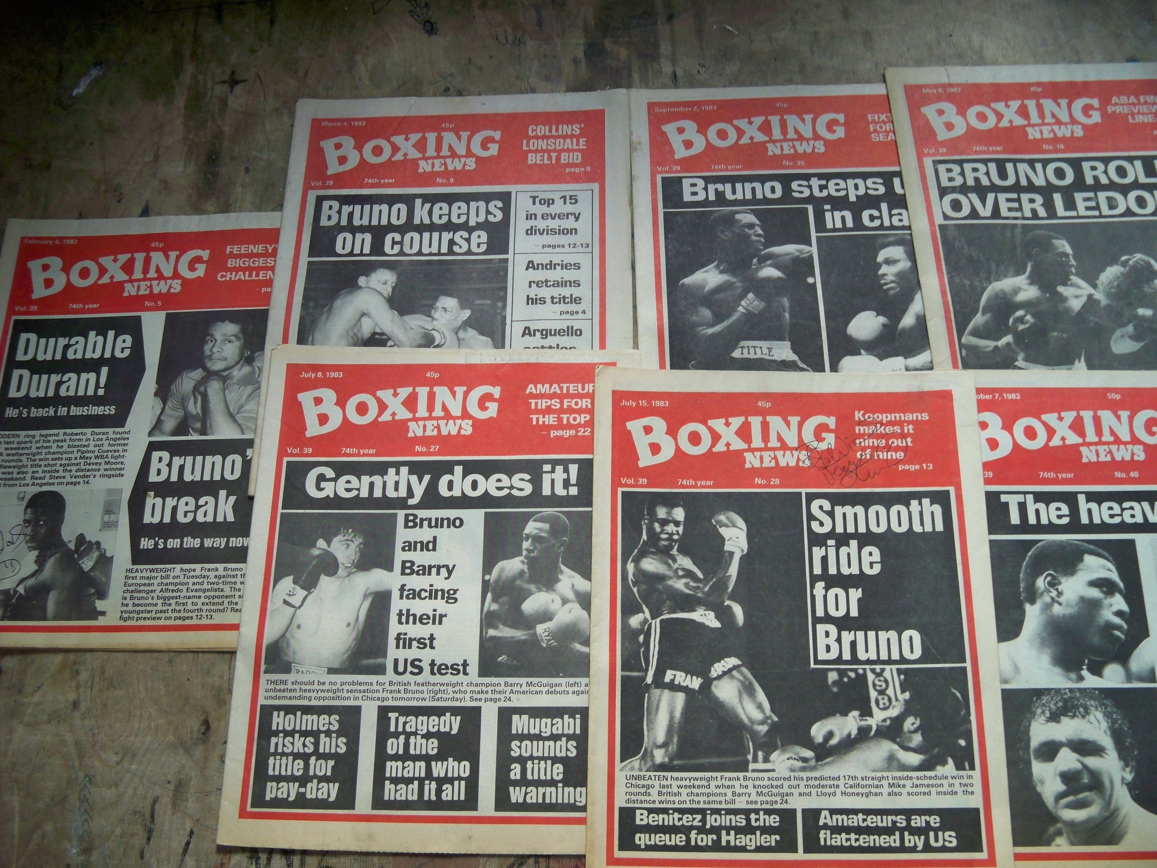 The Frank Bruno multi book and Boxing News package