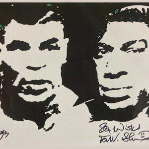 Bruno Tyson black signed print