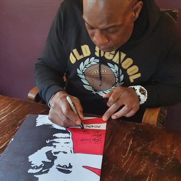 Union Jack signed Frank Bruno Print Signed by Frankjpeg